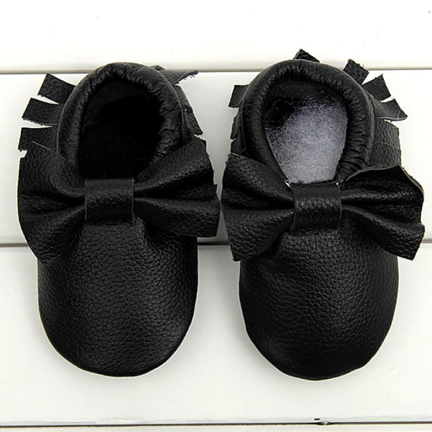 Amazing Baby Moccasins Bow Shoes Firstwalker Anti-slip PU Leather Shoes Soft Spring Autumn Baby Shoes Crib Shoes