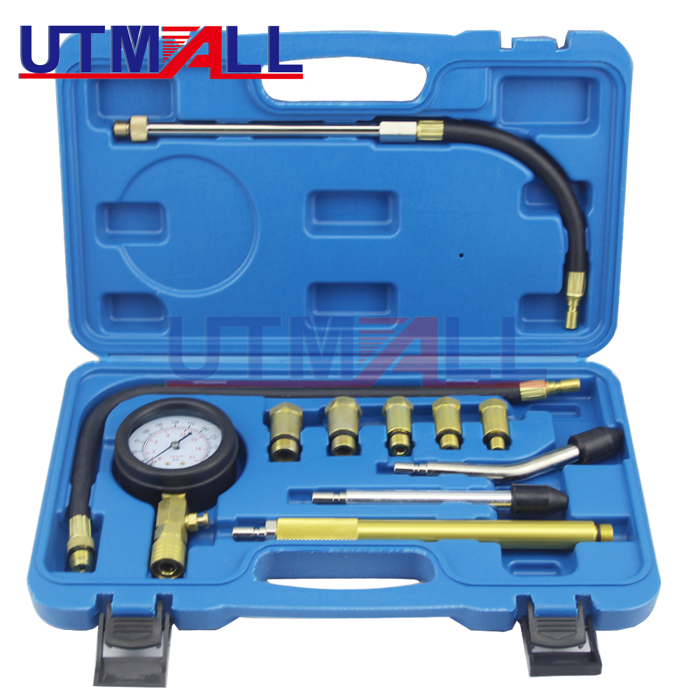 цены на New Rapid Connected Petrol Gas Engine Cylinder Compressor Gauge Meter Test Pressure Compression Tester Leakage Diagnostic  в интернет-магазинах