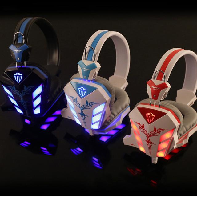 Gaming Headset CD-168 Rodeado de Deep Bass auriculares con Micrófono Con Cancelación de Ruido Auriculares Estéreo Led para ordenador