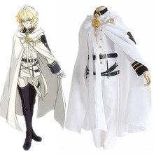 Аниме последний Серафим: Вампирское царство Косплей костюмы MIKAELA Hyakuya Косплей Костюм Полный комплект