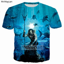 Movie Aquaman Superhero Arthur Curry Orin Cool 3D Print T shirt Men/women Streetwear T-shirt Tees Boys Tshirt Tops 2018 Clothes