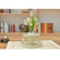 Fashion Plum Bloss Candle Holder Iron Anti White Stand Wedding Decor New Year Gift Home Decoration