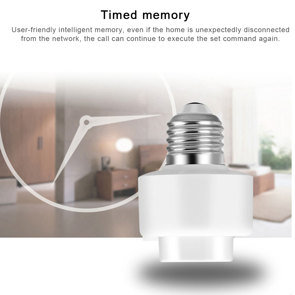 Image 4 - E27 Wireless Remote Control Light Lamp Holder Bulb Lighting Lamp Bulb Holder Cap Socket Switch 100 240V Durable-in Home Automation Modules from Consumer Electronics