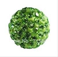 100pcs CZ Crystal 10MM Shamballa Beads For Pave Disco Balls Green Color Shamballa For Bracelet Fashin