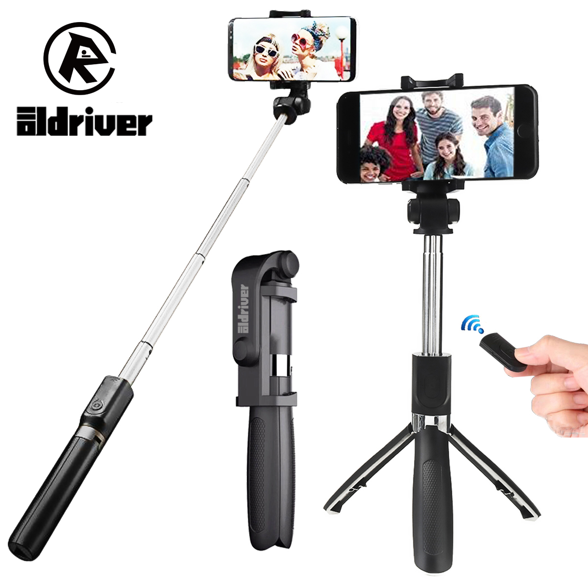 Handheld Mini Foldable Tripod Monopod 2 in 1 Selfie Stick Bluetooth Wireless Remote Control Shutter for Android For iPhone X 8 floveme tripod selfie stick wireless bluetooth monopod for iphone samsung xiaomi remote control handheld smartphone selfie stick