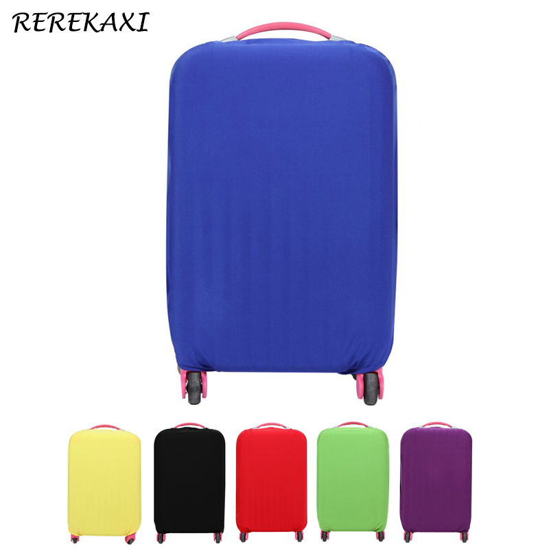 Suitcase Case Cover Luggage Solid Color Elastic Protective Covers 18-30 Inch Baggage Trolley Trunk Dust Cover Travel Accessories