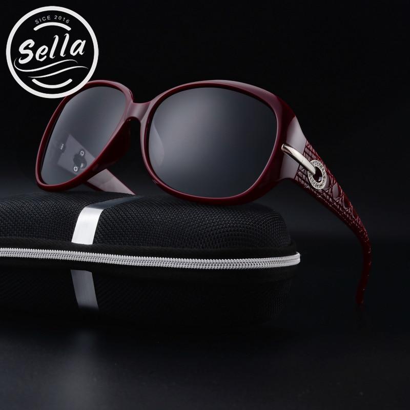 Fashion Women Classic Round Polarized Sunglasses Brand Designer Crystal Decoration Oversized Ladies Sun Glasses Driving UV400