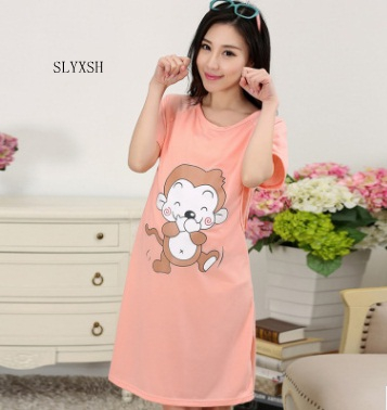 Cotton Maternity Sleepwear Pregnant Women Pajamas Nursing Breast Dress Lactation Clothin ...