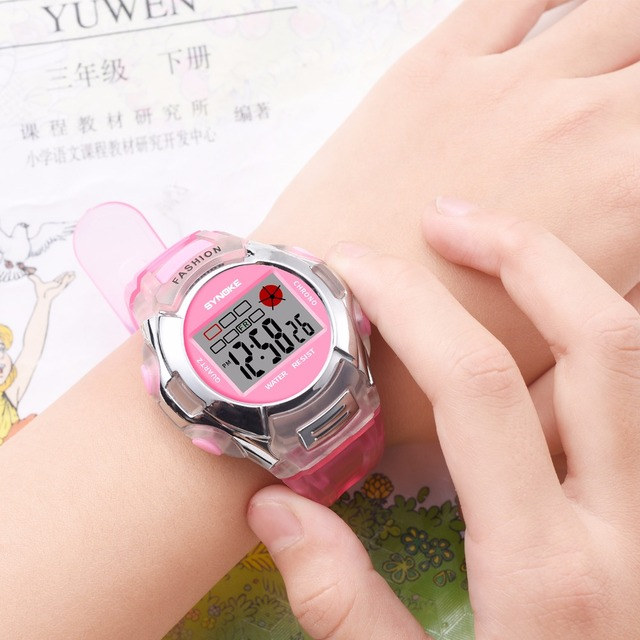 LED Luminous Children Watch Boys Girls Digital Sports Watches Alarm/Day/Date Display Casual Kids Waterproof Electronic Watch+Box