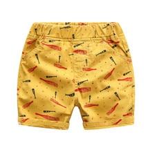 Летняя детская одежда шорты для мальчиков хлопковая одежда для маленьких детей с принтом шорты штаны Bebe