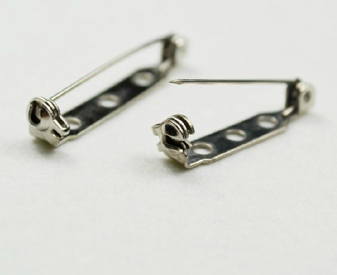 1000pcs 25mm High quality Brooch Locking Bar Pin Back with ...