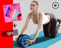 Sport Pioneer No Noise Abdominal Wheel Muscle Trainer Gymnastic Ab Roller With Mat Press for Exercise Fitness Machine Workout