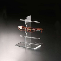 3 Tier Acrylic Sunglasses Eyeglasses Display Stand With Rectangle Base Glasses Nose