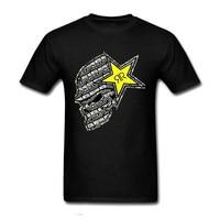 Cool Slim Fit Letter Printed Short Sleeves New Fashion T-shirt Men Clothing Men's Rockstar Energy Drink Cotton Diy T Shirt