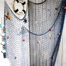 Home Big Fishing Net Wind Chimes & Hanging Decoration Wall Stickers Hangings Mediterranean Sea Style Crafts 100*200cm GI673216