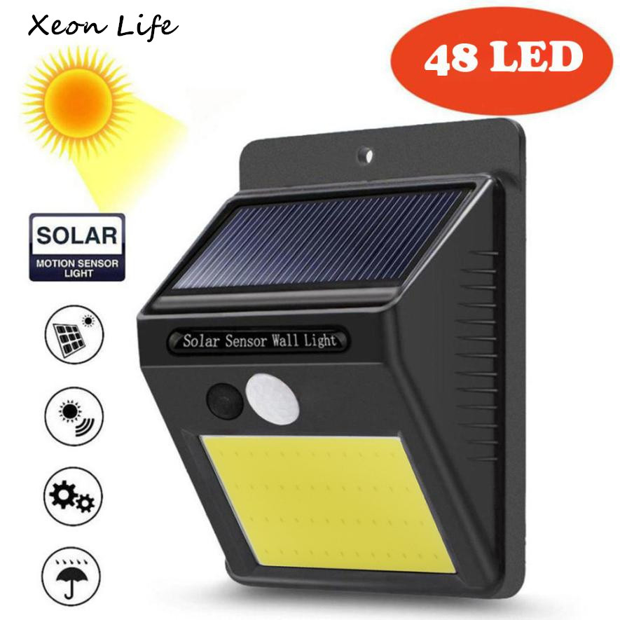 48 LED Solar Powered Wall Light Motion Sensor Outdoor Garden Security Lamp Solar Power Light Installation Screw <font><b>Sheds</b></font> Storage
