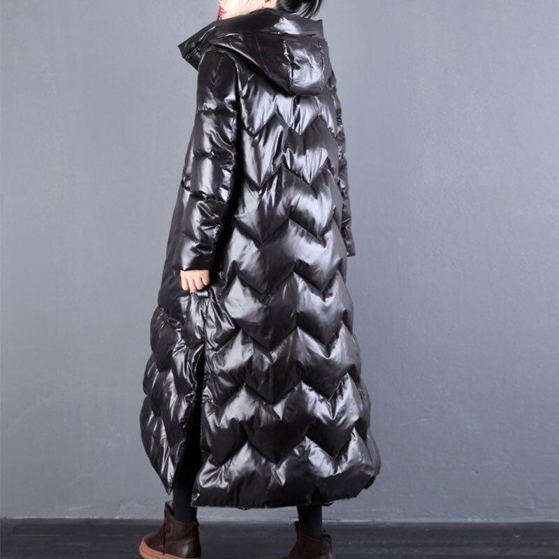 À Boucle red Épaissie Vintage Manteau Capuche 98 Femme Veste Femmes Lâche Outwear D'hiver Brillant Black Nouveau 2019 Coton Longue UIfxwvqUp