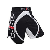 MMA Boxing Fitness Training In Black And White Circular Pattern Loose Personality Breathable Sports Shorts Muay