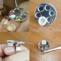 Mini Manicure Palette Nail Art Finger Ring Palette Makeup Mixing Acrylic Paint Palettes Nail Tools (without white bottle)