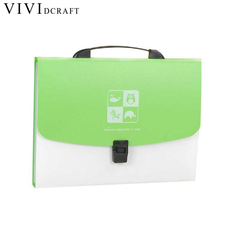 Vividcraft Organ File Folder Collection Bag A4 Folder Document Bag PP Buckle File Folder for Documents File Office Supplies soft document bag waterproof pu leather file folder document filing bag office supplies 25 35 cm