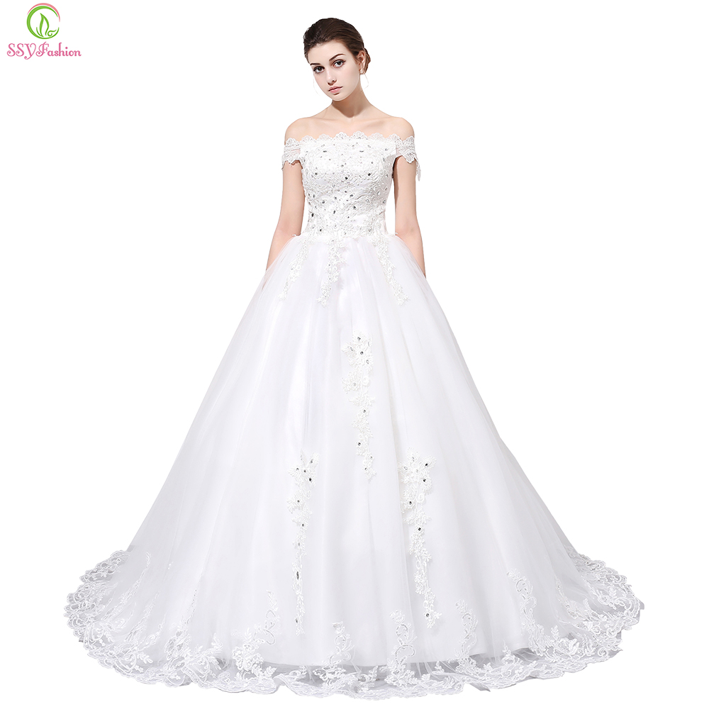 Vestido De Novia SSYFashion Hot Sell Wedding Dress Bride White Lace ...