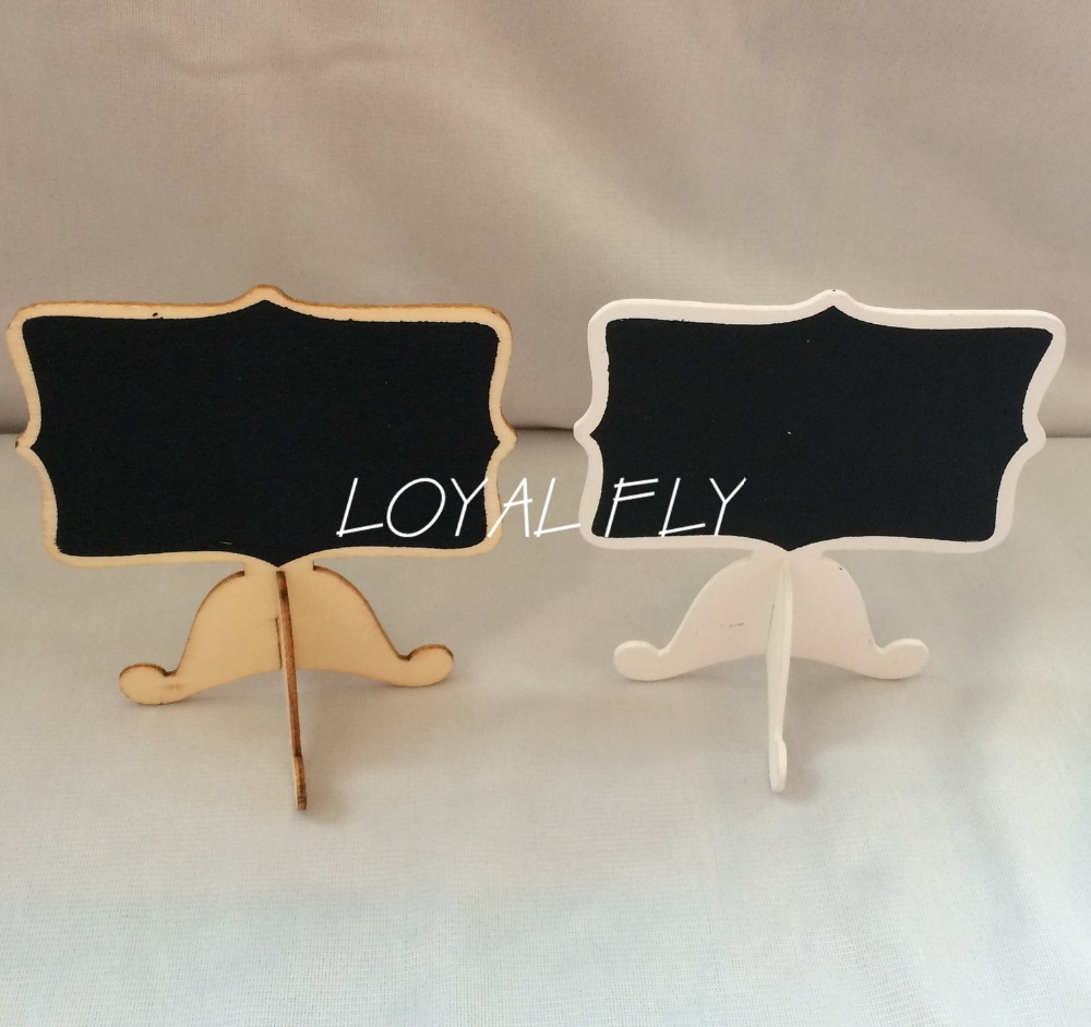 20PCS/LOT Mini Wooden Rectangle Chalkboards Blackboard Table Numbers -Wedding-Candy Signs