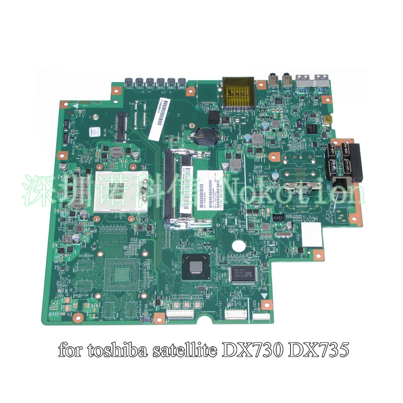 NOKOTION SPS T000025050 For toshiba satellite DX730 DX735 Mainboard HM65 DDR3 nokotion for toshiba satellite a100 a105 motherboard intel 945gm ddr2 without graphics slot sps v000068770 v000069110