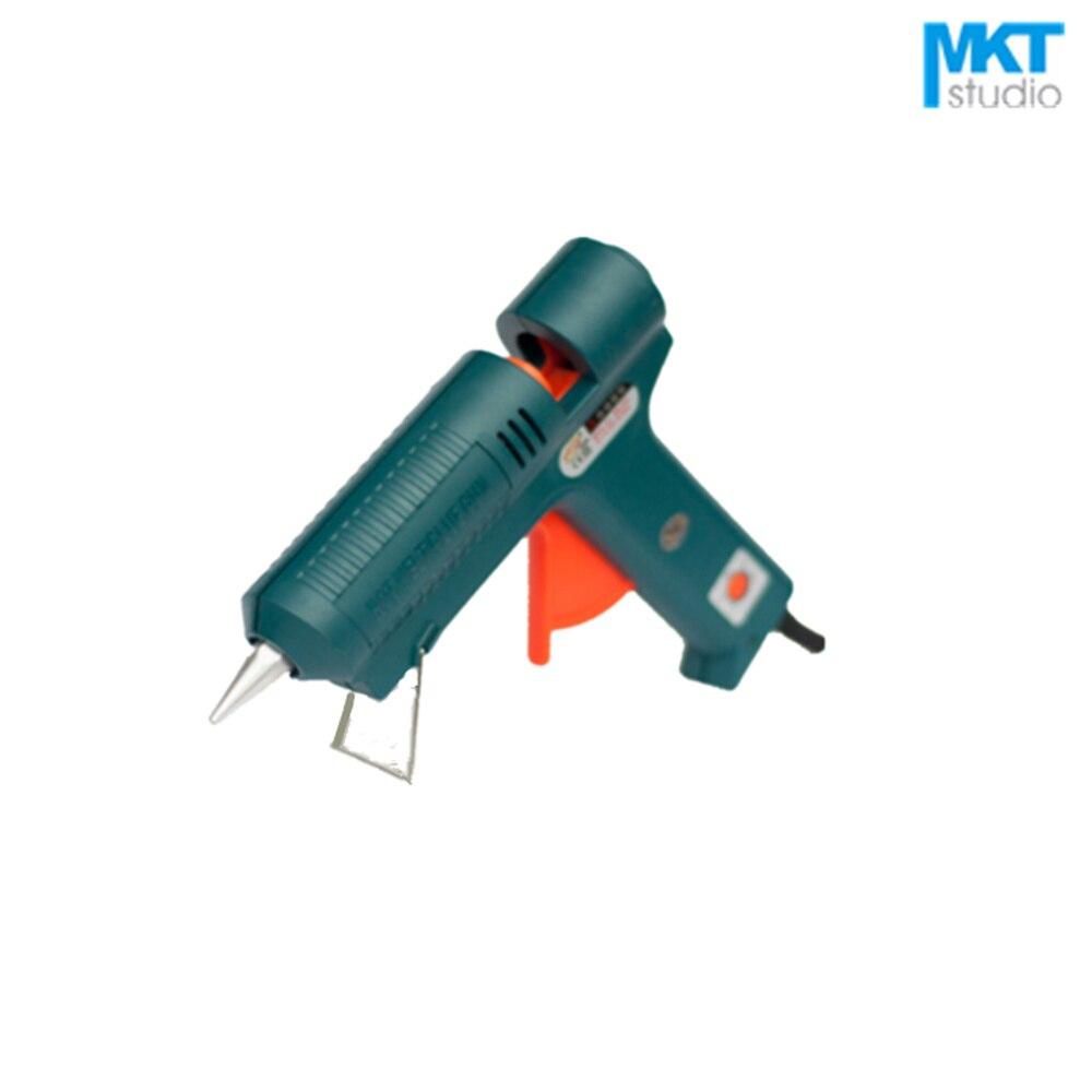 1Pcs Green 100W Temperature-Adjustable Electric Thermo Heating Hot Melt Adhesive Glue Gun Pistol Puller For 11mm Glue Stick 100w temperature adjustable hot melt glue gun 220v