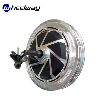 12Inch Hub Motor 36V/48V 350W/500W Electric Bicycle Brushless Gearless Disc Brake Electric Wheel Traction Head Hub Motor