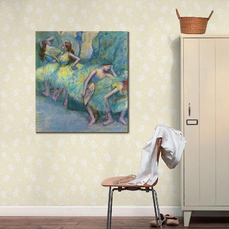 Modern olieverfschilderij Ballet Dansers in de Vleugels Edgar Degas ...