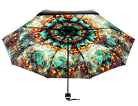 2015 New Kam Color Love Personality Black Umbrella High Grade Skeleton Vinyl UV Sun Umbrella