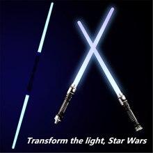 2 teile/satz Star Wars Led Blinklicht Schwert Spielzeug Cosplay Waffen Doppel Sabers kinder spielzeug