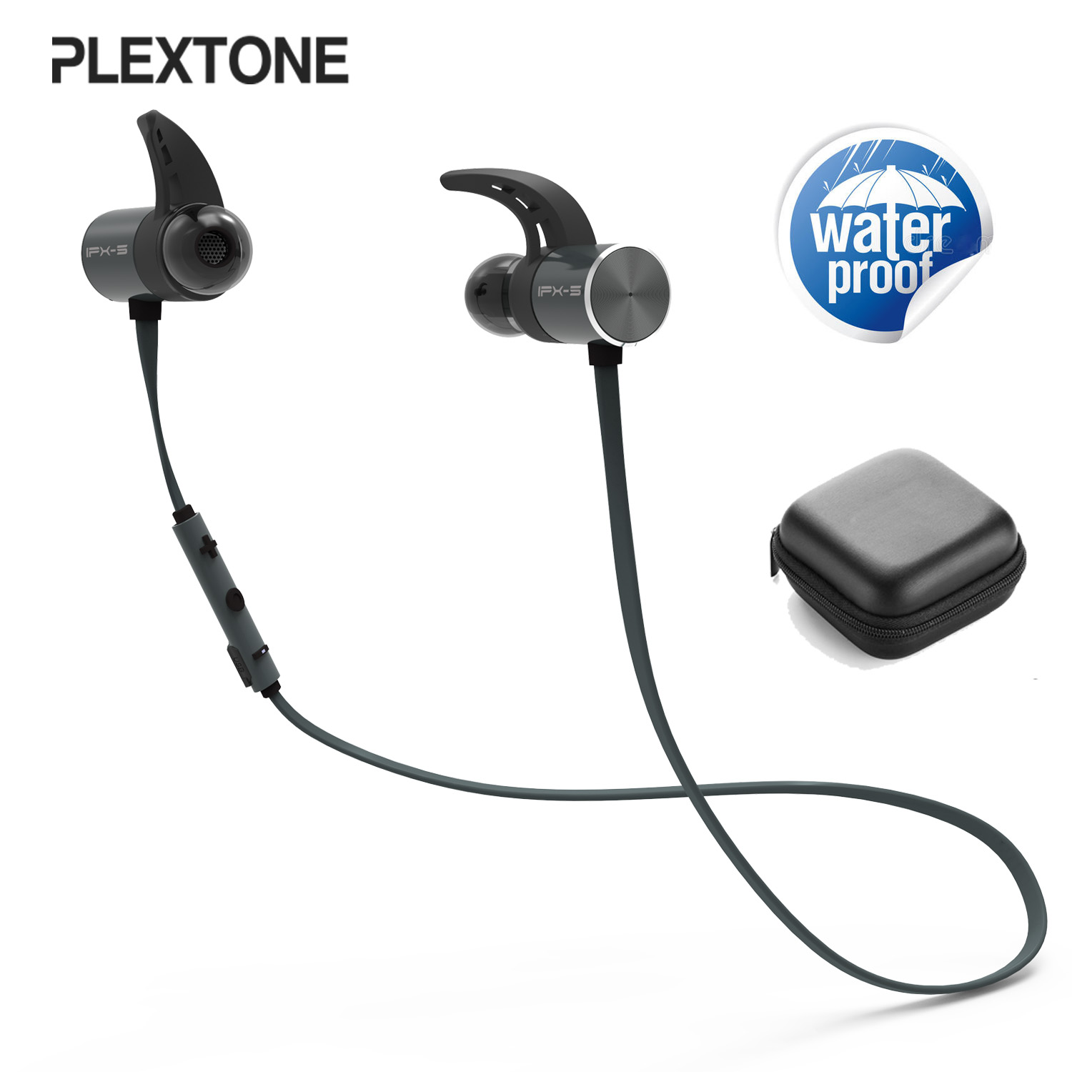 BX343 Bluetooth Earphone Wireless Headphone IPX5 Waterproof HIFI Stereo Earbuds Magnetic Headset With Microphone For phone Sport hbs 760 bluetooth 4 0 headset headphone wireless stereo hifi handsfree neckband sweatproof sport earphone earbuds for call music