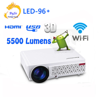 LED96 Wifi Full HD HDMI USB 1080p Video Multi Screen Home Theater Projector LED Android 3D