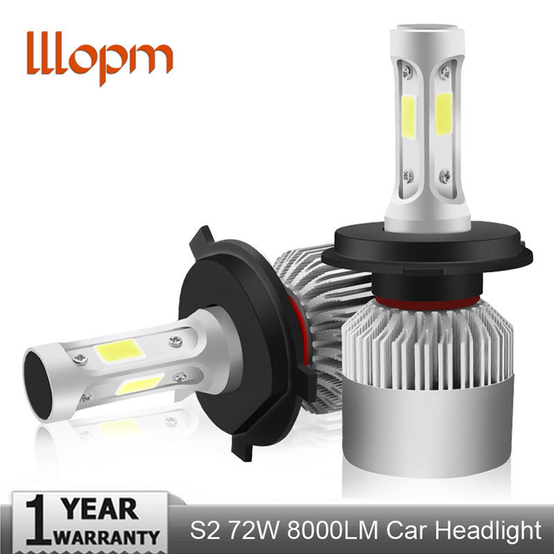 LLLOPM H4 LED Bulb H7 H1 H3 H8 H9 H11 H13 9005 HB3 9006 HB4 880 881 H27 9004 9007 Auto Headlamp 8000LM COB Car Light LED Lamp yhkoms car led headlight h4 h7 led h8 h9 h11 9005 hb3 9006 hb4 880 881 h27 h1 h3 9004 9007 h13 auto headlight bulbs 6000k white