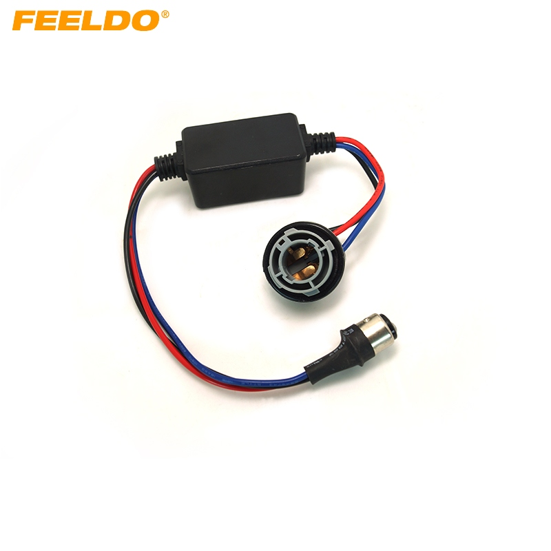 Car Lights Ffldo 1pc Dc12v 1157/bay15d Turn Signal Socket Warning Error Canceller Error Free Load Resistor Led Decoder #2268 Spare No Cost At Any Cost Automobiles & Motorcycles