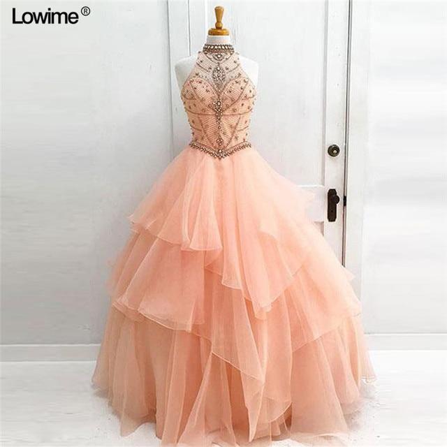 276edafd8 Imagen real vestidos de 15 anos con rebordear perlas de cristal Quinceanera  vestidos 2018 vestidos largos