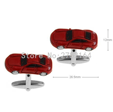 Red car modelling of the lacquer that bake cufflinks French men shirts cufflinks sleeve nail factory direct sale free shipping