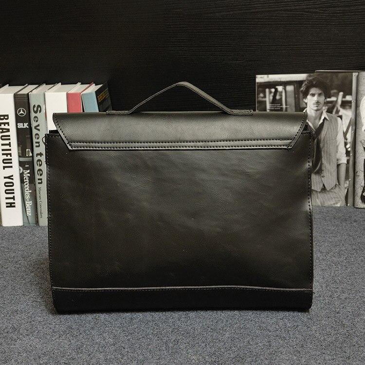 HTB14SgrjnnI8KJjSszgq6A8ApXaC Crazy Horse PU Leather Men Briefcase Famous Brand Men's Messenger Bag Male Laptop Bag Business Fashion Shoulder Bags Travel Bag