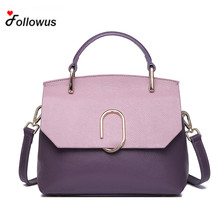 2017 New Fashion Brand Women Genuine Leather Handbag High Quality Cow Leather Panelled Cover Soft Luxury Shoulder Bags