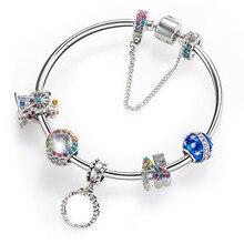 цена на 2019 Hot Sale Micro-inlaid Beaded Bracelet Love Luxury Jewelry Accessories LOVE Women's Bracelet Link Chain Bracelet