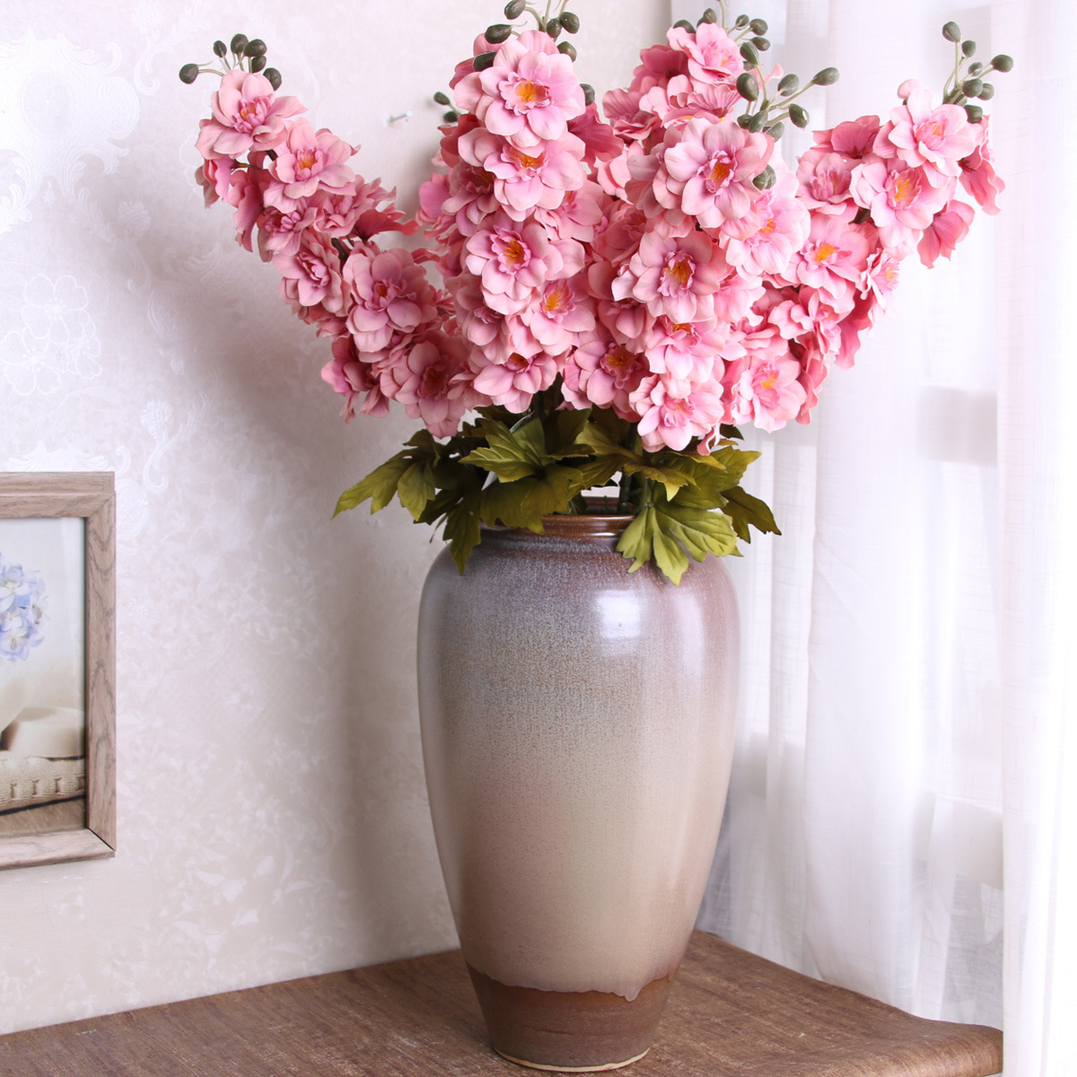 Online Shop Delphinium Flowers European Silk Flower Home Decoration
