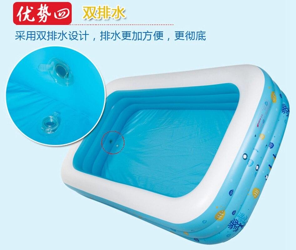 Grands enfants famille en plein air coloré bulle fond éclaboussures adulte baignoire gonflable Piscine 196x143x60 cm - 3