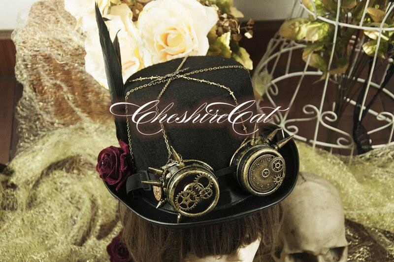 Handmade Steampunk Top Hat Vintage Федорас Хат Lolita - Костюмдер - фото 2