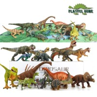 18pcs Large Good 3D Dinosaurs Model Set Jurassic Action Figure Toys For Children Kids stuffed Animals Tyrannosaurus Rex Display