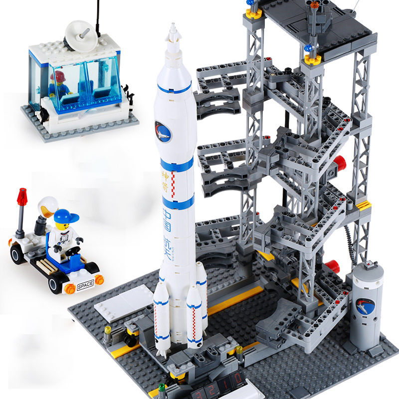 Creator City Space Shuttle Rocket Satellite Station Technic Building Blocks Star Bricks Model DIY Toys For Children Space Marine