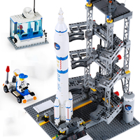 Creator City Space Shuttle Rocket Satellite Station Technic Building Blocks Star Bricks Model DIY Toys for Children space marine