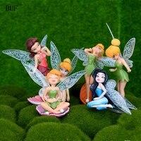 Buf 6 قطعة/المجموعة الملاك تمثال النحت اليدوية الراتنج الفن الغربي حديقة الجني جنية زخرفة جمع تجميل الحرفية