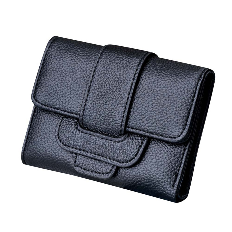 Luxury Brand Women Wallets Lichee Pattern Hasp Coin Purse Short Wallet Card Holders Clut ...