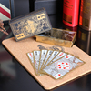 Free Shipping Waterproof Transparent Pvc Plastic Poker Gold Edge Playing Cards Dragon Card Novelty High Quality